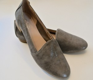 Sliver grey loafers